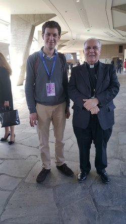 Mgr Francesco Follo et M François BAUSSON (MRJC)